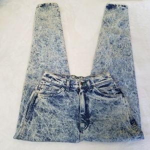 Vintage 80's Lee Acid Wash high waisted mom jeans